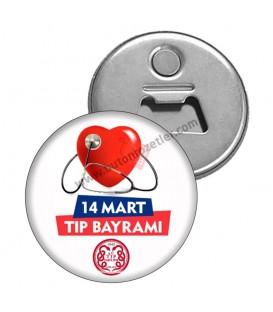 14 Mart Tıp Bayramı  Promosyon Magnet Şişe Açacağı