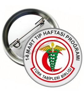 14 Mart Tıp Haftası Program  Rozeti