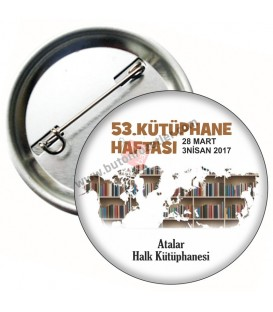 Kütüphanecilik Haftası Yaka Rozeti