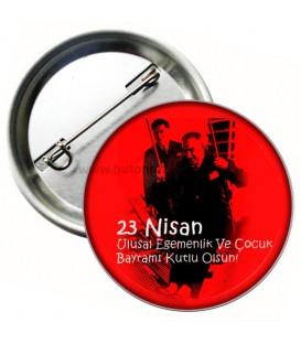 23 Nisan Ulusal Egemenlik Bayramı Rozeti