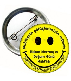 Ortodonti Smiley Diş Telli Rozet 58 mm