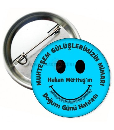 Ortodonti Smiley Diş Telli  Mavi Rozet 58 mm