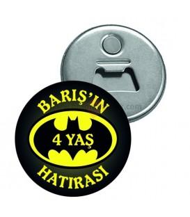 Batman Temalı 4 Yaş Hatıra Magnet Açacak
