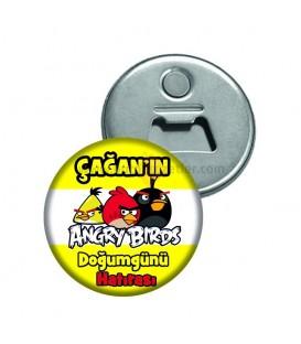 Angry Birds Doğum Günü Hatırası Magnet Açacak