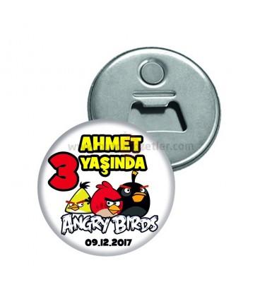 3 Yaş Angry Birds Doğum Günü  Magnet Açacak