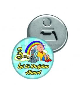 3 Yaş Caillou Temalı Magnet Açacak