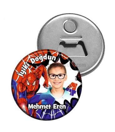 Spiderman Doğum Günü Magnet Açacak