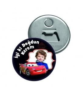 Şimşek Mcqueen Arabalı  Doğum Günü Magnetleri