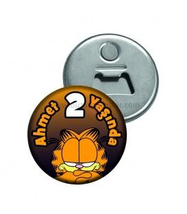 Garfield Temalı 2 Yaş  Buzdolabı Süsü Magnet Açacak