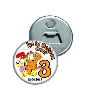 Garfieldli İyiki Doğdun Magnet Açacak