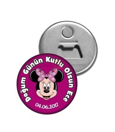 Minnie Mouse Doğum Gününün Kutlu Olsun  Magnet Açacak