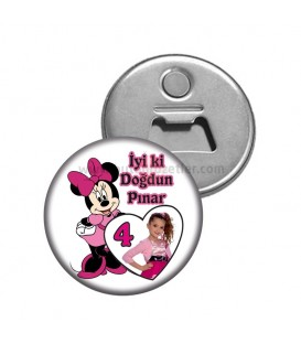 Minnie Mouse Fotoğraflı Magnet Açacak