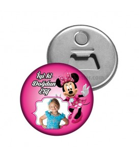Minnie Mouse Temalı Fotoğraflı Magnet Açacak