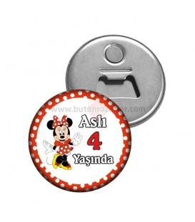 Minnie Mouse Temalı 4 Yaş Fotoğraflı Magnet Açacak
