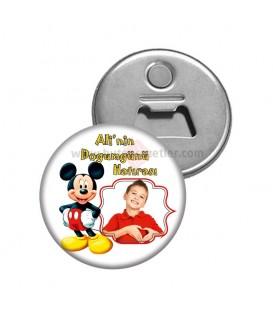 Mickey Mouse Görselli  Dogumgünü Magnetl Açacak