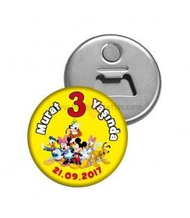 Mickey ve Minnie Mouse Temalı  Dogumgünü Magnetl Açacak