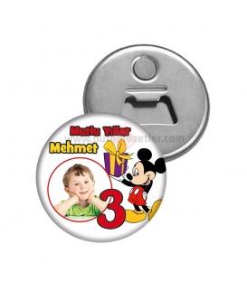 Mickey  Mouse Temalı  3 Yaş Dogumgünü Magnetl Açacak