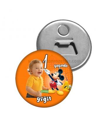 1 Yaş Mickey  Mouse Temalı Dogumgünü Magnetl Açacak