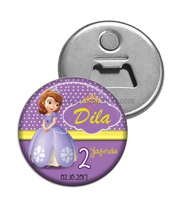 2 Yaş Doğum Günü Prenses Sofia Buzdolabı Süsü