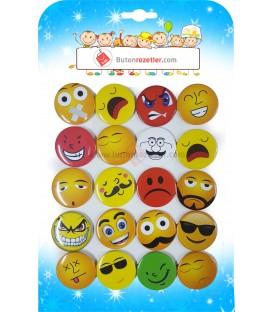 Emoji Rozetler 44 mm