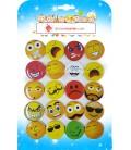 Emoji Rozetler 44 mm Karışık