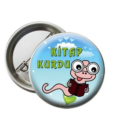Kitap Kurdu  Motivasyon Rozeti Paket