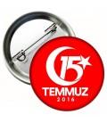 15 Temmuz Demokrasi Zaferi Yaka Rozeti 25 li