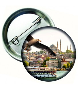 İstanbul'dan Bir Gün Metal Rozet 44 mm