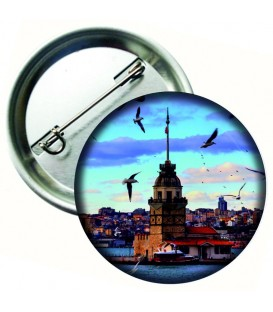 Kız Kulesi Aksesuar  Metal Rozet 44 mm