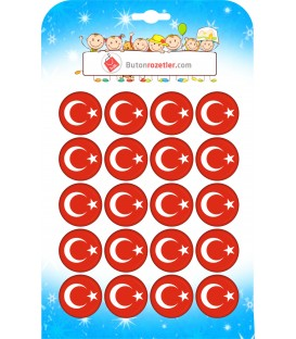 Türk  Bayrağı  Yaka Rozeti