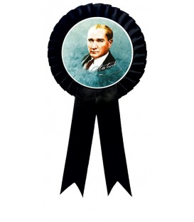 Fiyonklu  Atatürk Yaka Rozeti
