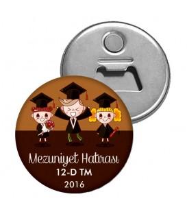 Mezuniyet Anısı Okul İsimli Magnet Açacak