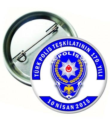 10 Nisan Polis Teşkilatı Yaka Rozeti
