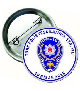 Polis Teşkilatı Rozetleri 10 Nisan