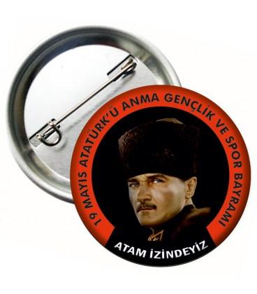 Atatürkü Anma Gençlik ve Spor Bayramı Rozeti