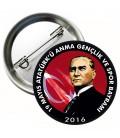 19 Mayıs  Atatürkü Anma Gençlik ve Spor Bayramı İğneli Rozet