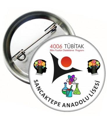 4006 Tübitak Bilim Fuarı Metal Rozetler