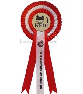 Üç Sıralı Kedi Yarışma Kokartlı