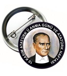 10 Kasım Atatürkü Anma Rozeti