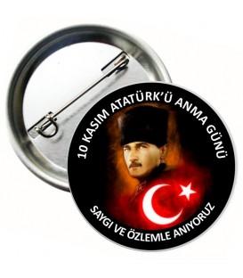 10 Kasım Atatürk İğneli Rozetleri