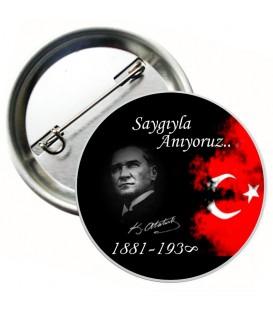 10 Kasım Atatürkü Anma Günü Metal Rozet