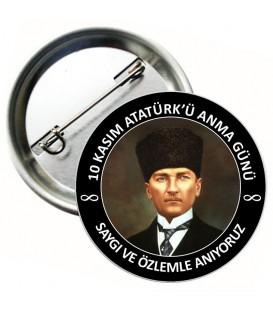 Atatürk Haftası 10 Kasım Rozeti