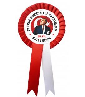 29 Ekim Cumhuriyet Bayramı Kumaş Kokart