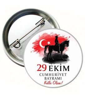 29 Ekim Cumhuriyet Bayramı İğneli Rozeti