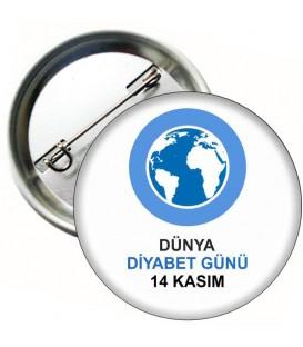 Dünya Diyabet Günü Rozeti