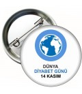 Dünya Diyabet Günü Rozeti 20 li Paket