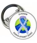Diyabet Günü Şeker Hastalığı Yaka Rozet