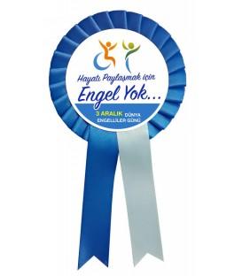 Engel Yok 3 Aralık Dünya Engelliler Günü Yaka Kokartı