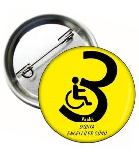 Dünya Engelliler Haftası  Rozeti