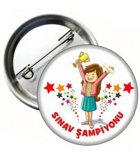 Sınav  Şampiyonu Kız Öğrenci Rozeti